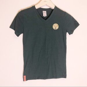 Jegermeister forest green v-neck t size m fit is s